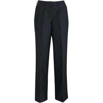 EDWARDS LADIES' PLEATED FRONT POLY/WOOL PANT