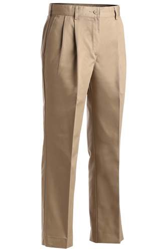 Ladies' Utility Pleated Front Chino Pant