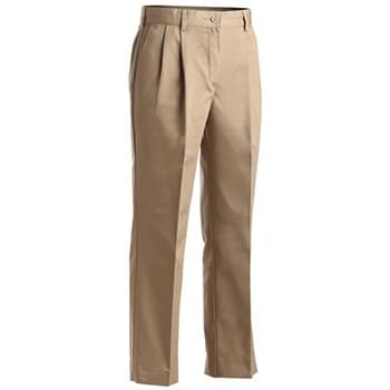 Ladies' Blended Chino Pleated Pant