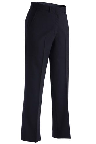 LADIES' WOOL BLEND FLAT FRONT DRESS PANT