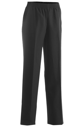 LADIES' POLYESTER PULL-ON PANT