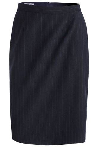 LADIES' PINSTRIPE STRAIGHT SKIRT