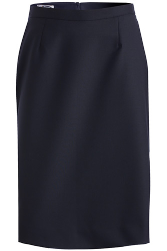 LADIES' WOOL BLEND STRAIGHT SKIRT